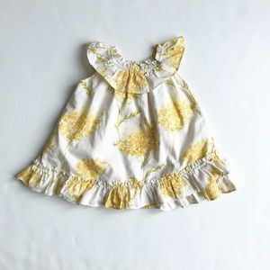Babygap yellow wild flower dress EUC 3-6 months